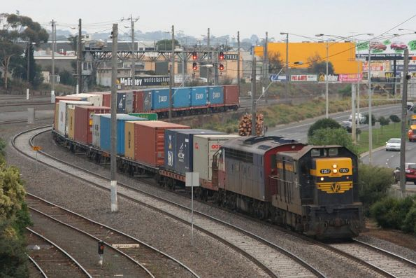 Warrnambool freight stuck at Geelong, waiting for the pass to clear through to Camperdown (!)