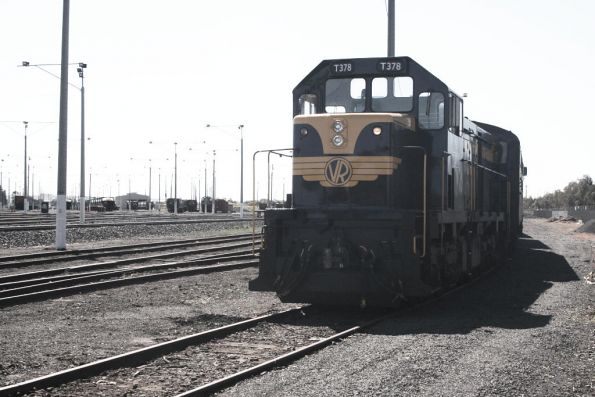 T378 leading S313 on the down Warrnambool freight, waiting a path at North Geelong Yard, instead of Lara for some reason