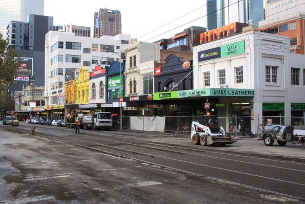 Looking south down Elizabeth Street from Little Lonsdale Street