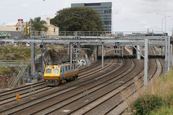 IEV100 heads out of Footscray after a run to Little River via Werribee