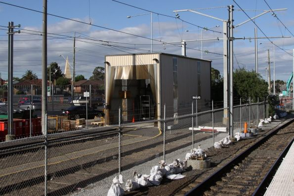 Windscreen replacement shed at the down end of Epping Workshops