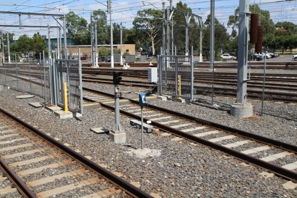 Signal EPP173 for up trains arriving into Epping Workshops