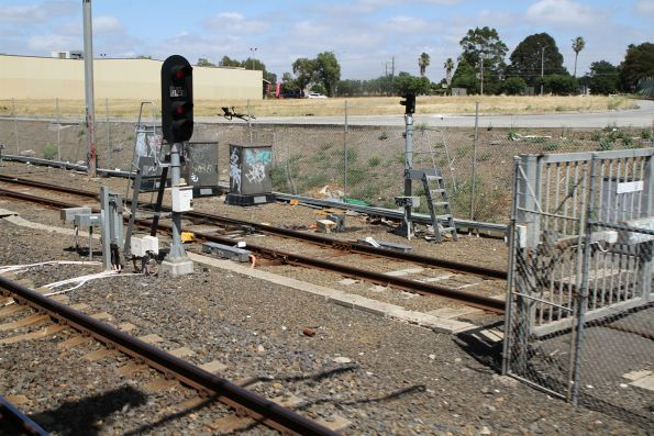 Signal EPP123 for up trains departing Epping Workshops