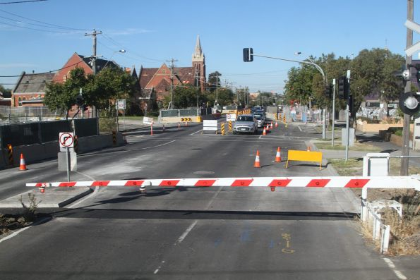 Service relocation works underway on the east side of the Buckley Street level crossing