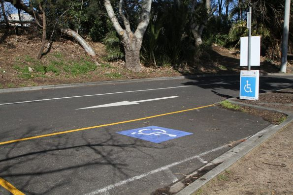 Temporary disabled parking spaces at Essendon station