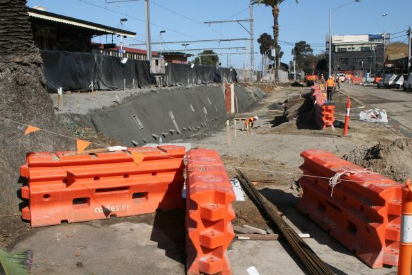 Rebuilding the station subway ramps on the west side of Essendon station