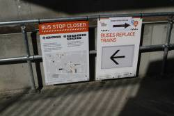 Directions to the relocated bus stops at Essendon station