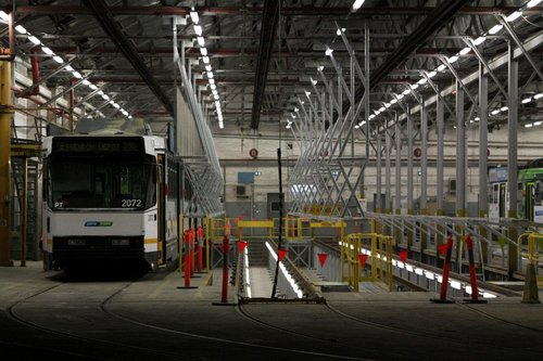 B2.2072 stabled in road 12 at Essendon Depot