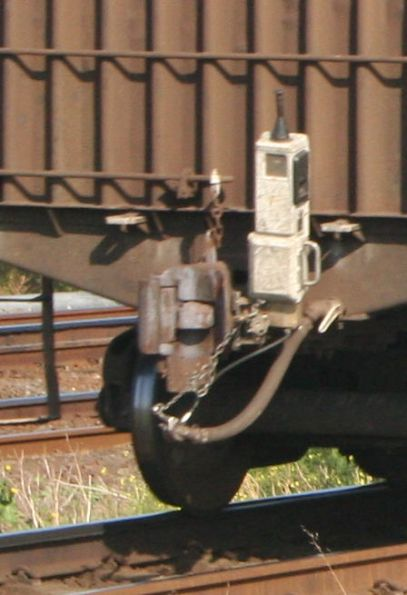 SBU (Sense and Brake Unit) device for the Western SG, on a PN steel train