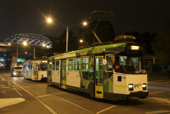 Rescuing a failed Z3 class tram, October 2013
