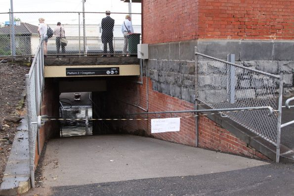 Flooded subway at Ascot Vale: is it really that hard to maintain drains?