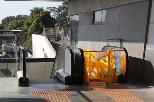 Two days on: escalator still broken at North Melbourne