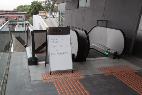 You just fixed the other escalator at North Melbourne, and now the neighbouring one is broken?