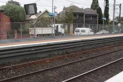 'Temporary' fishplates over flawed rail finally replaced by a new length of rail