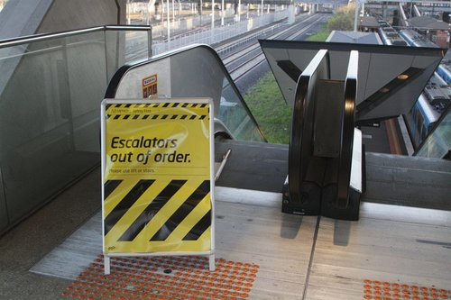 Escalators out of order again at North Melbourne platform 6