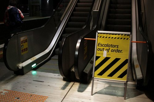Escalators still out of order at North Melbourne platform 6