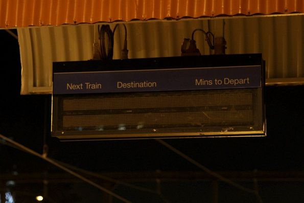 Dead LED next train display at East Richmond station