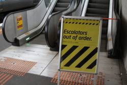 Now the escalator at North Melbourne station platform 6 has died