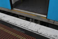 Big gap between the train and platform at Albion station platform 1