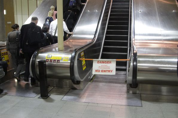 Wednesday morning, and the escalator out of Flagstaff station is still broken