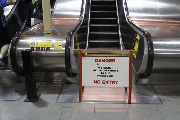 Thursday morning, and the escalator out of Flagstaff station is still broken