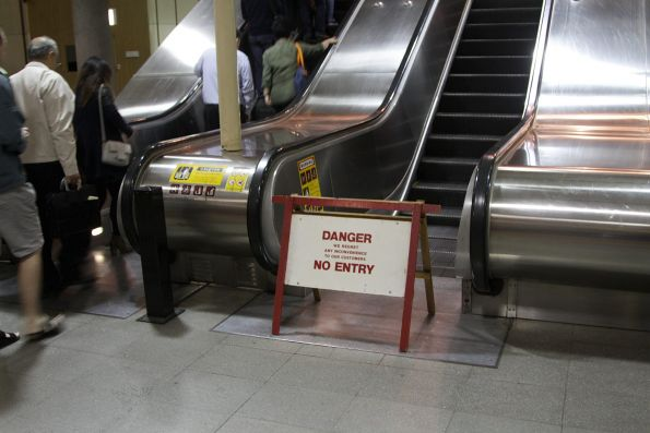 Friday morning, and the escalator out of Flagstaff station is still broken