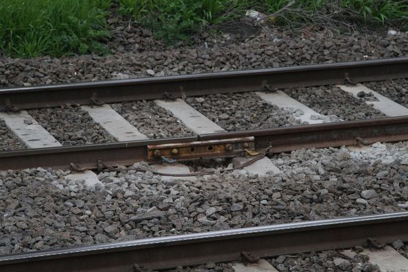 Another temporary fishplate, this time linking a new section of rail to the old