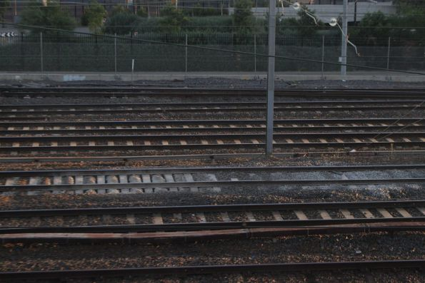 One big mud hole in the suburban lines at Richmond Junction