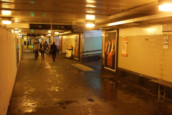 Water leaks into the main subway at Richmond station
