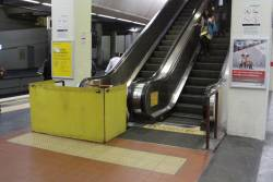Escalator under repair at Box Hill platform 2 and 3