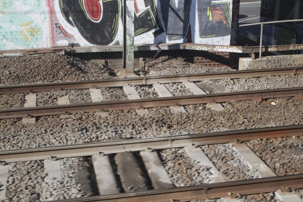 Mud holes in the tracks between South Kensington and North Melbourne
