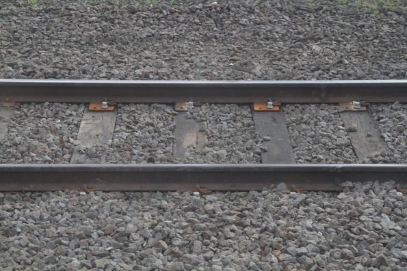 Rotten timber sleepers replaced by new timber sleepers near Southern Cross Station