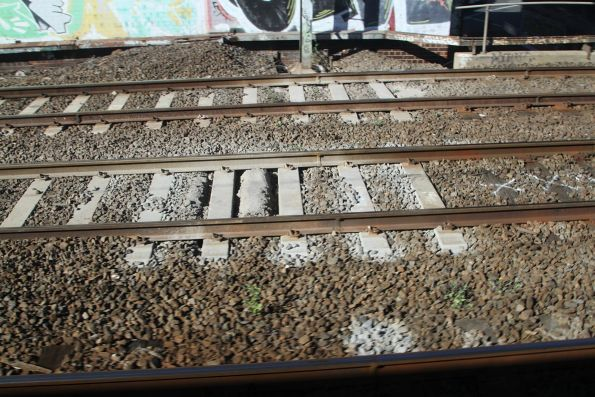 Mud hole in the suburban tracks at South Kensington