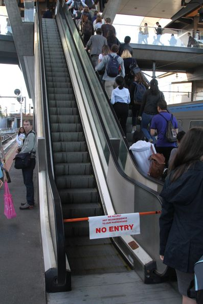 Failed escalator at North Melbourne platform 2 and 3