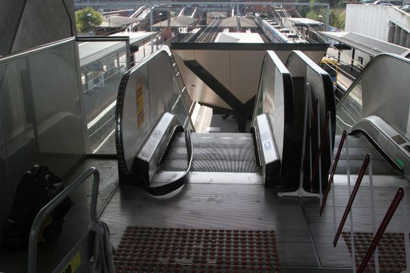 Defective escalator under repair at North Melbourne platform 2 and 3