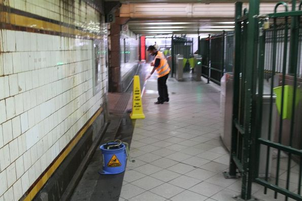 Mapping the wet floor in the Elizabeth Street subway