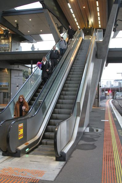 The escalators at North Melbourne station have turned into stairs yet again