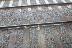 Rail flaws marked on the rail at North Melbourne