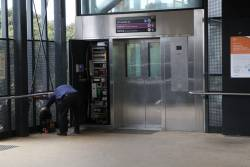 Repairing a faulty lift at Sunshine station