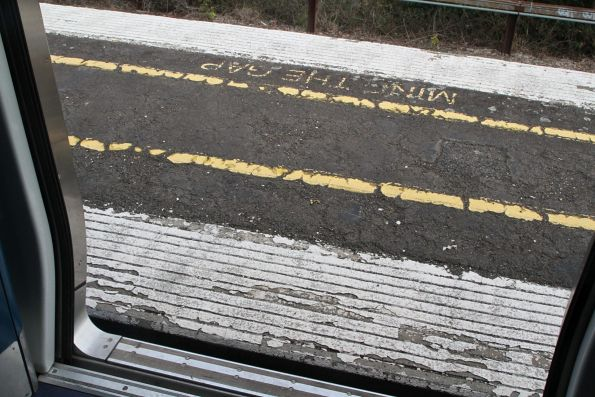 Incredibly narrow platform and crumbling surface at the up end of Canterbury platform 1 and 2