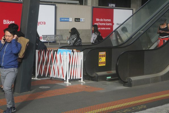 Broken down escalator to North Melbourne platforms 2 and 3
