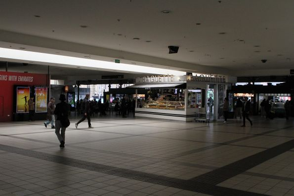 Main concourse at Flinders Street Station is dark and dingy