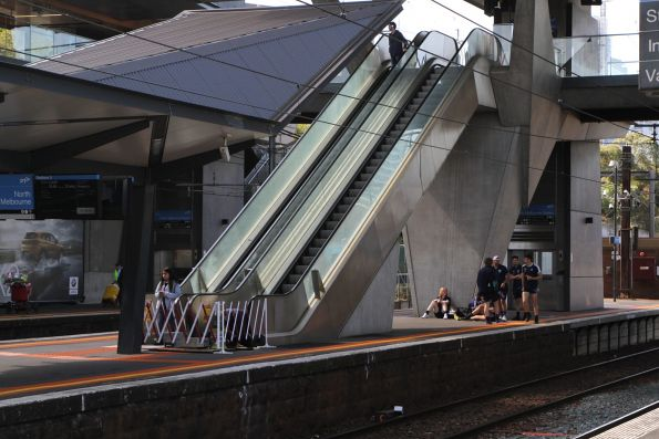 Repairing the escalator at North Melbourne platform 2 and 3