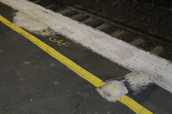 Patched up platform edge at Upper Ferntree Gully