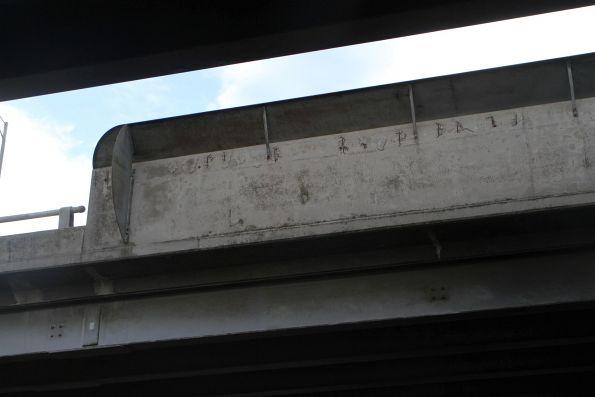 Cracking concrete parapets on the Ballarat Road bridge at Albion