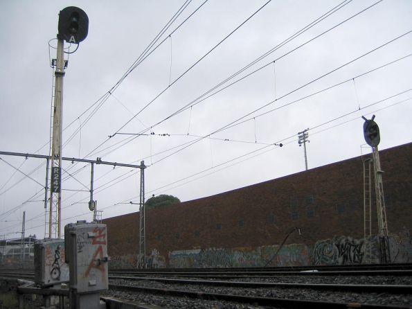 Automatic signal R247 on the down side of Showgrounds station