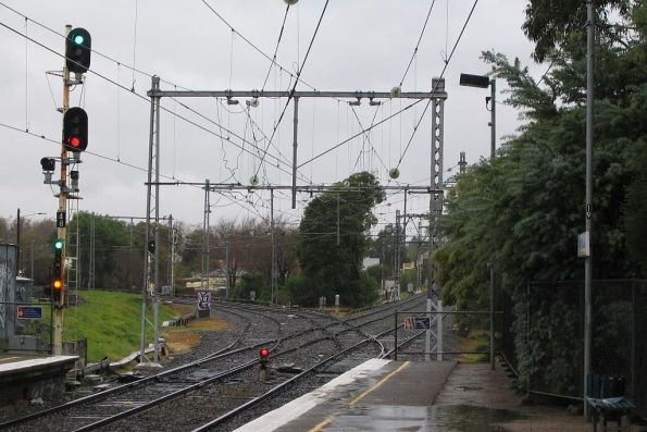 Junction of the Broadmeadows and Flemington Racecourse lines at Newmarket station