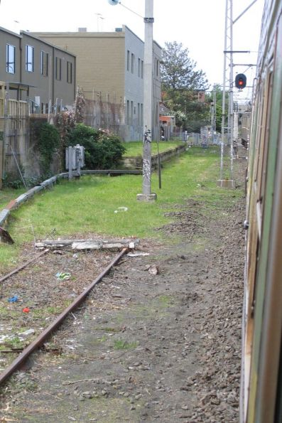 Up end of the disused siding between Epsom and Ascot Vale Roads