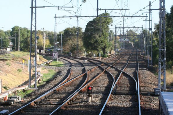 Junction of the Craigieburn and Racecourse lines at Newmarket