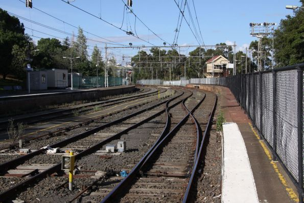Up end of Flemington Racecourse from platform 1